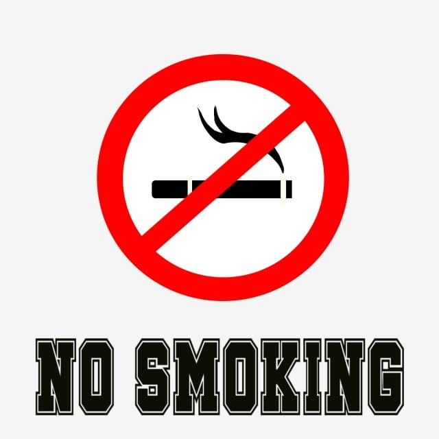No smoking (avoid passive smoking)